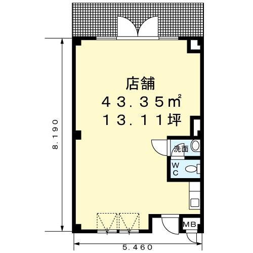 サンパティクⅠ店舗間取図20161220