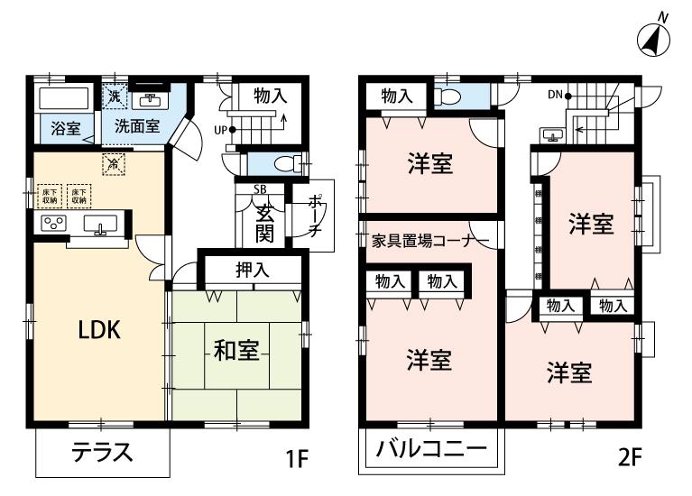板谷様売戸建間取図20180824(カラー)