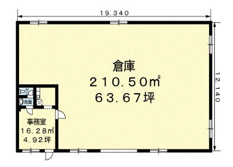 山崎倉庫F101間取図20181217