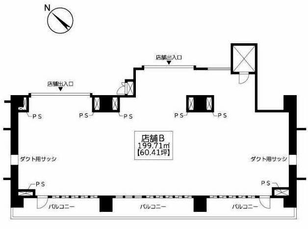 リアン2,3,4階店舗B間取図20181217