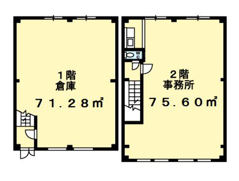 七光台倉庫付事務所B101間取図20190228